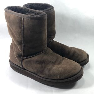 UGG Womens Classic Short Boots Size 7 Dark Brown